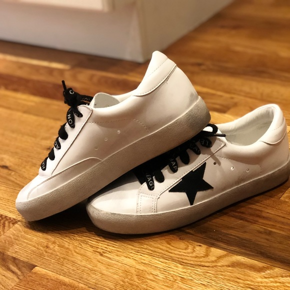 Black And White Star Sneakers